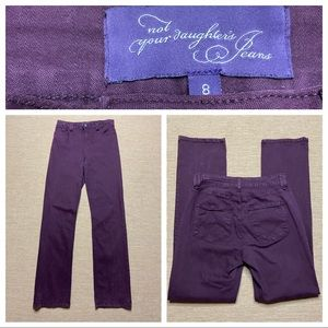 NYDJ Not Your Daughter's Jeans Purple High Waist 8